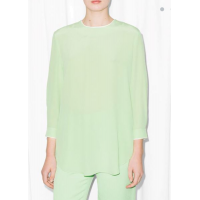 Блуза & Other Stories 00000007 40 зелёный цвет