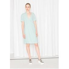 Платье & Other Stories Летнее 00000054 36 S зелёный цвет