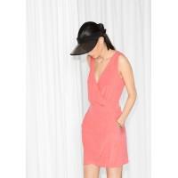 Платье & Other Stories на запах  00000015  42-XL розовый цвет