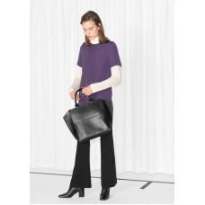 Платье & Other Stories туника 00000016 34 XS фиолетовый цвет